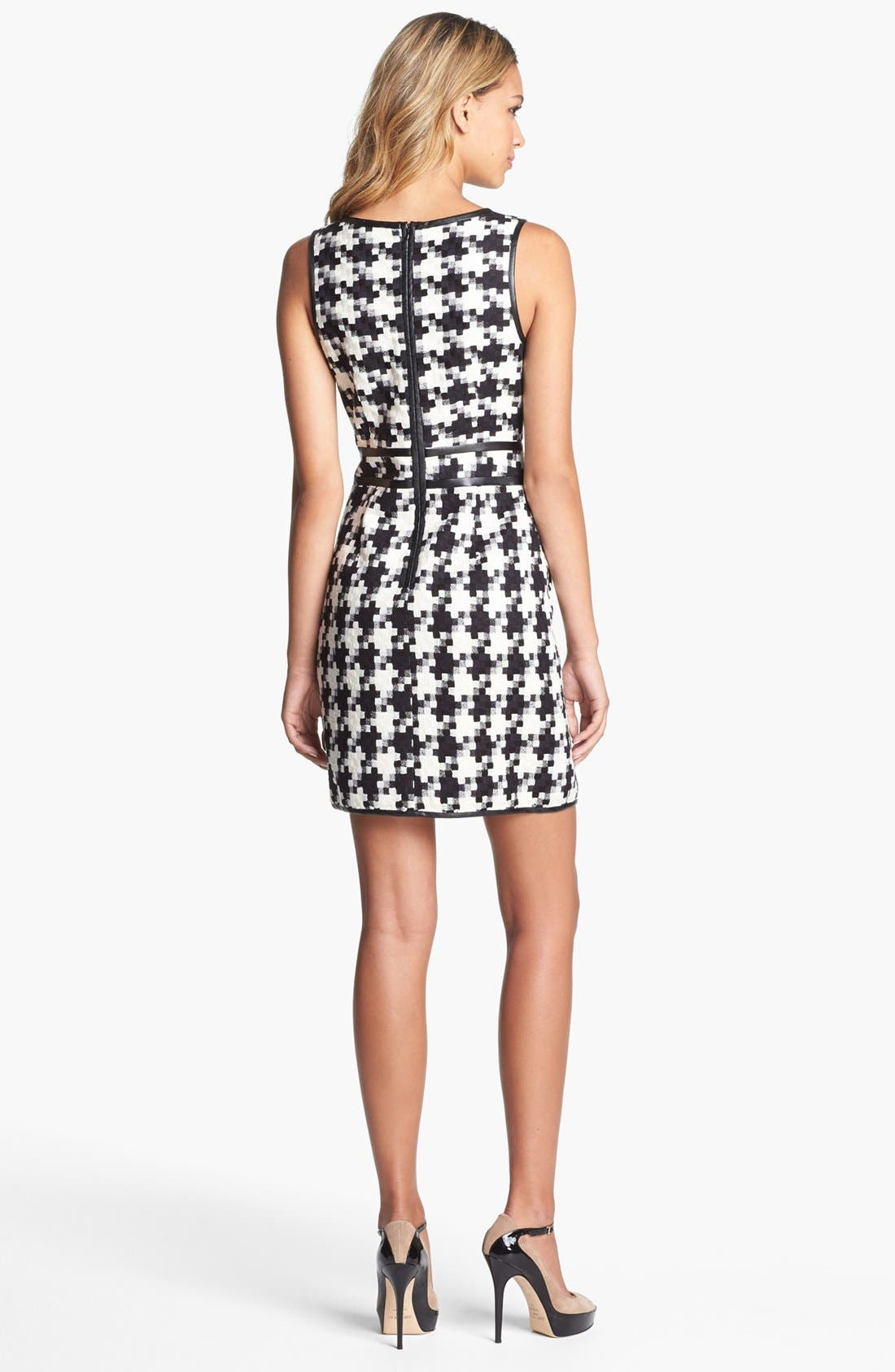 Alternate Image 2  - Laundry by Shelli Segal Houndstooth Dress