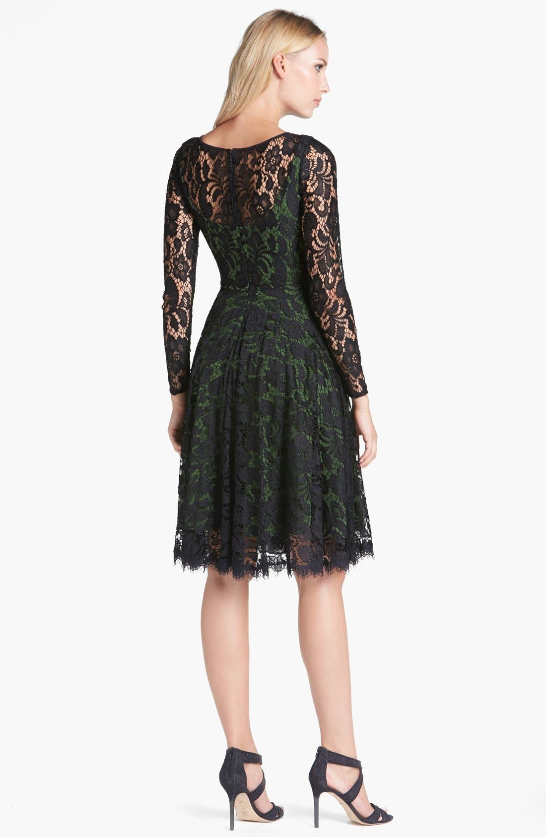 Alternate Image 2  - Isaac Mizrahi New York Lace Fit & Flare Dress