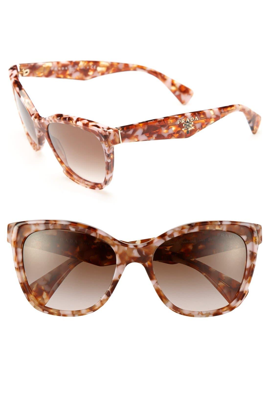 Main Image - Prada 56mm Oversized Retro Sunglasses