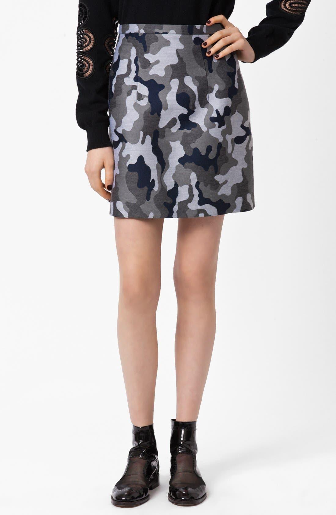 Alternate Image 1 Selected - Christopher Kane Camo Print Pencil Skirt