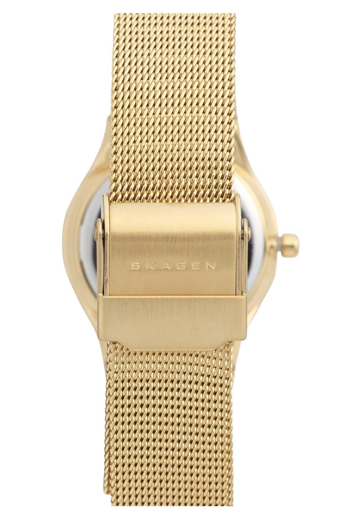 Alternate Image 2  - Skagen Mirror Bezel Mesh Strap Watch, 26mm