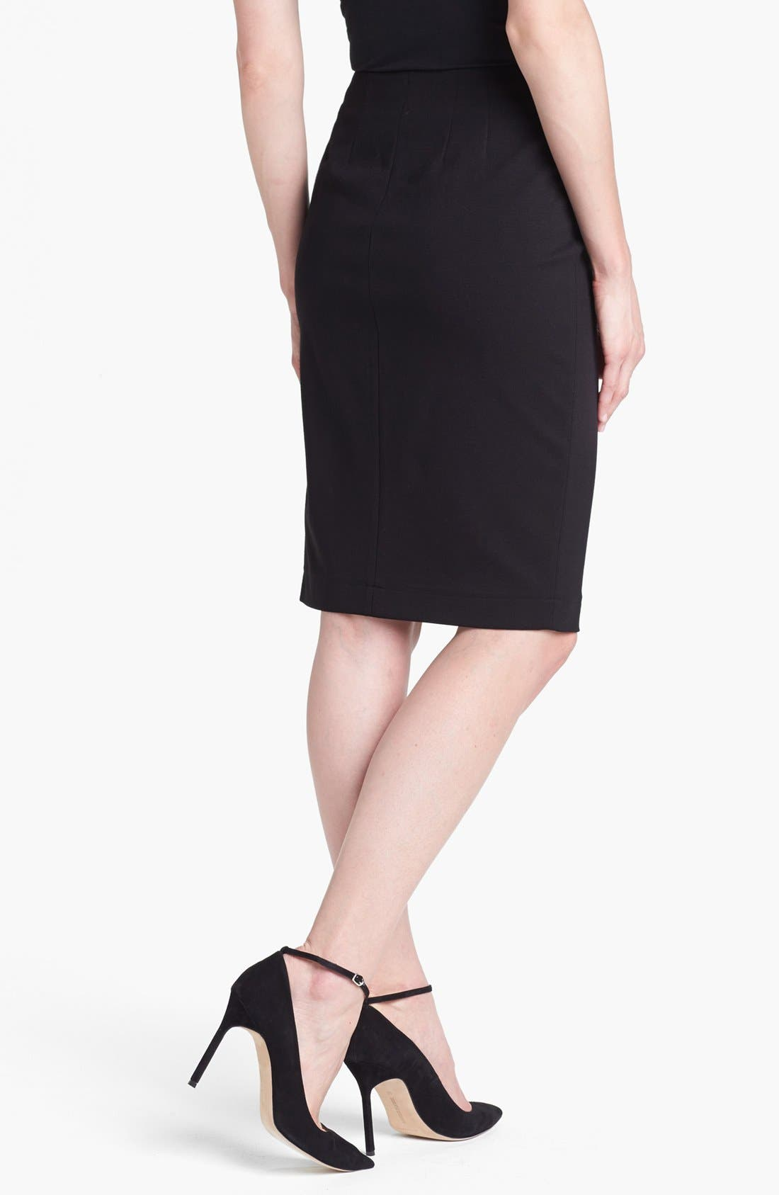 Alternate Image 2  - B and K by BUCHANAN & KANG Side Zip Pencil Skirt