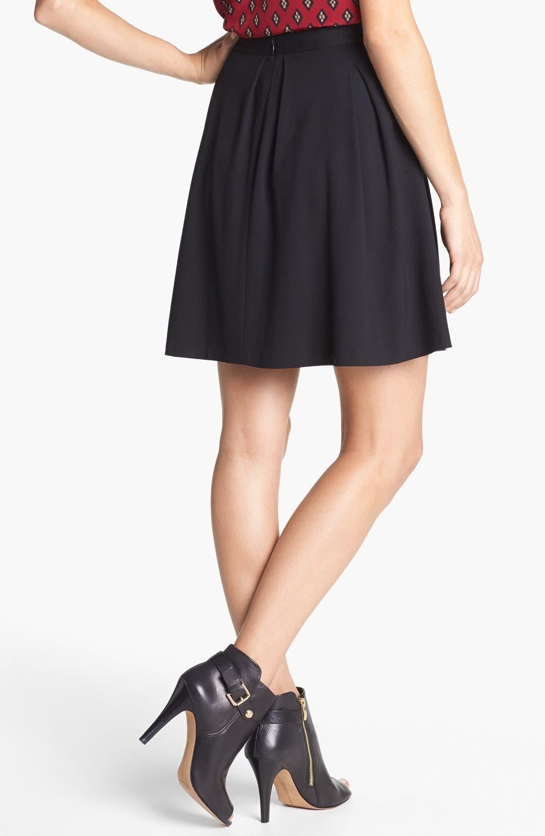 Alternate Image 2  - Vince Camuto Ponte Skater Skirt (Regular & Petite)