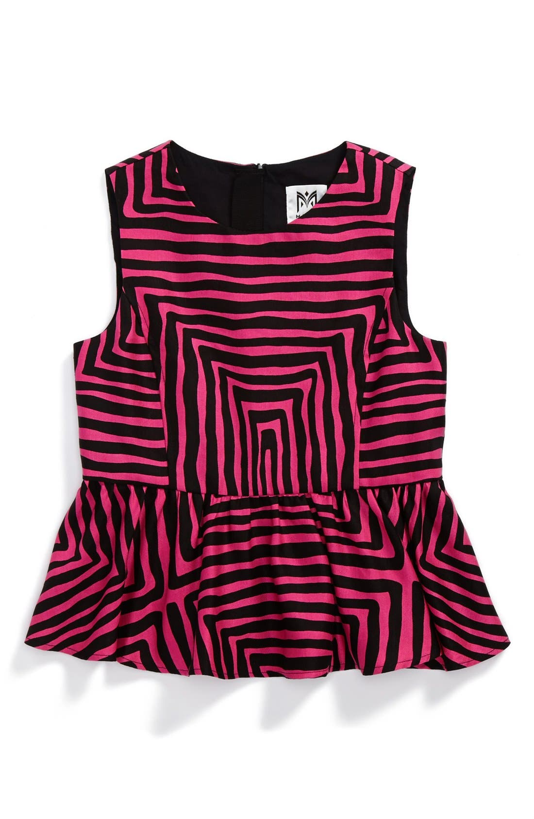 Main Image - Milly Minis 'Pippa' Peplum Top (Toddler Girls, Little Girls & Big Girls)