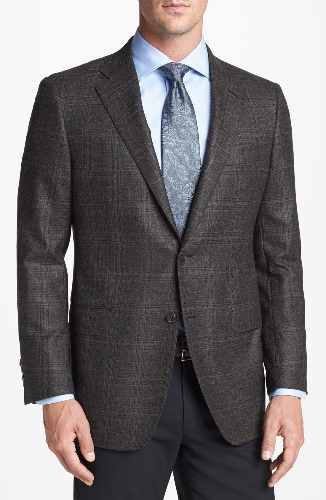 Main Image - Hickey Freeman 'B Series' Classic Fit Plaid Sportcoat