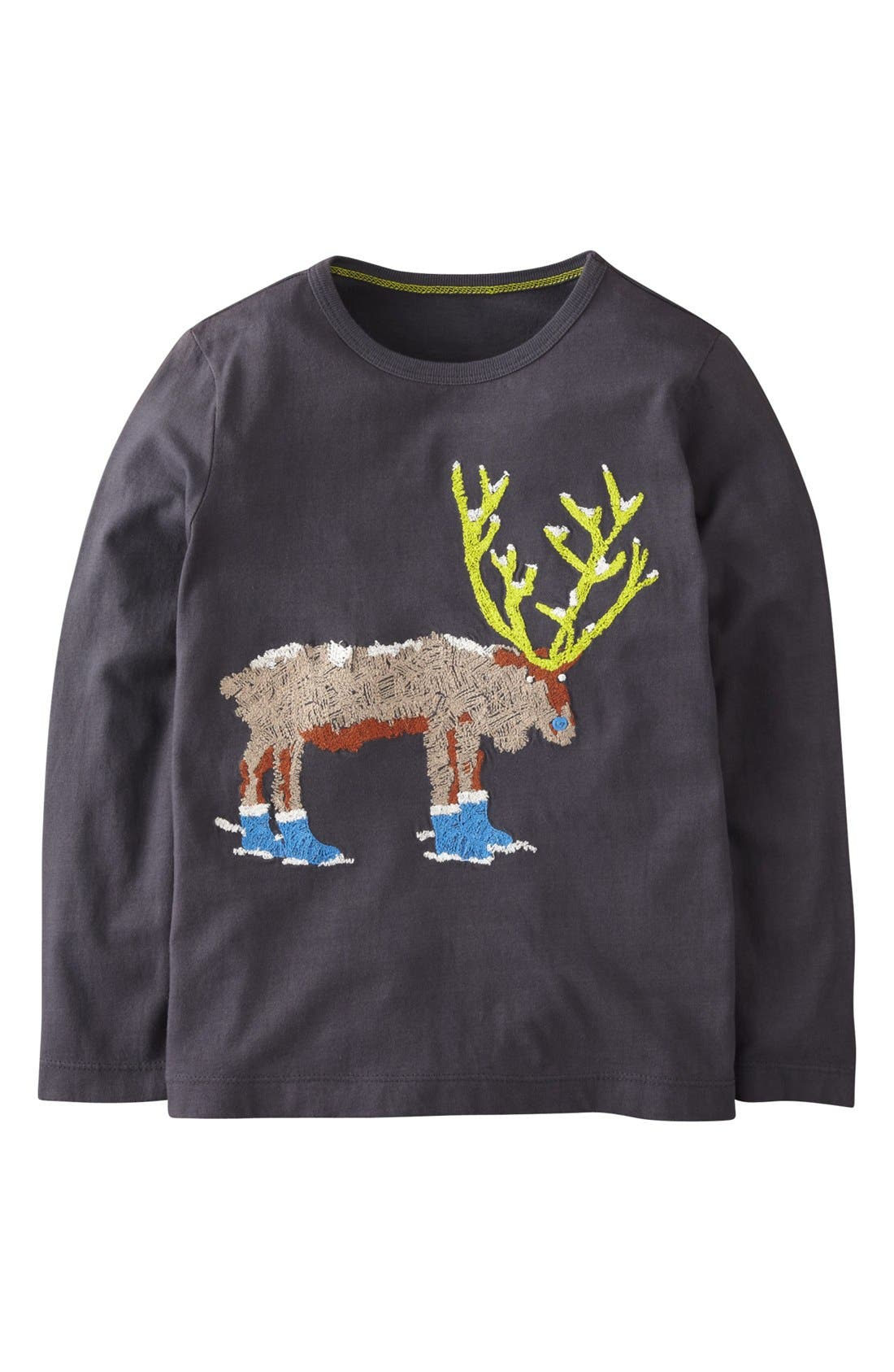 Alternate Image 1 Selected - Mini Boden 'Super Stitch' Long Sleeve T-Shirt (Toddler Boys, Little Boys & Big Boys)