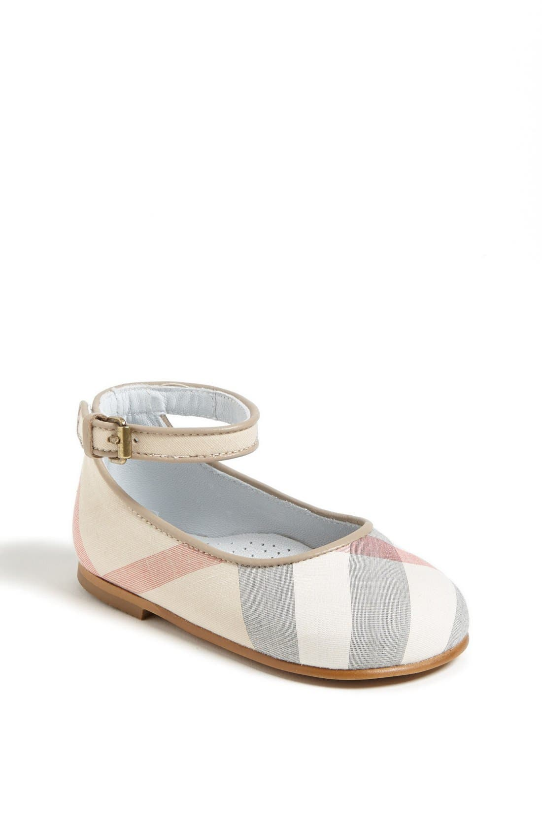 Alternate Image 1 Selected - Burberry 'Sophie' Mary Jane (Baby & Walker)