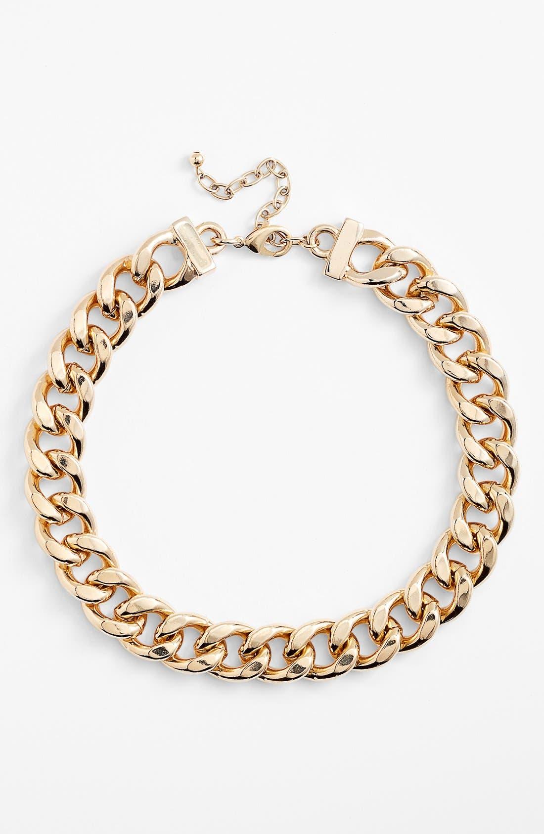 Alternate Image 2  - Nordstrom Curb Link Collar Necklace