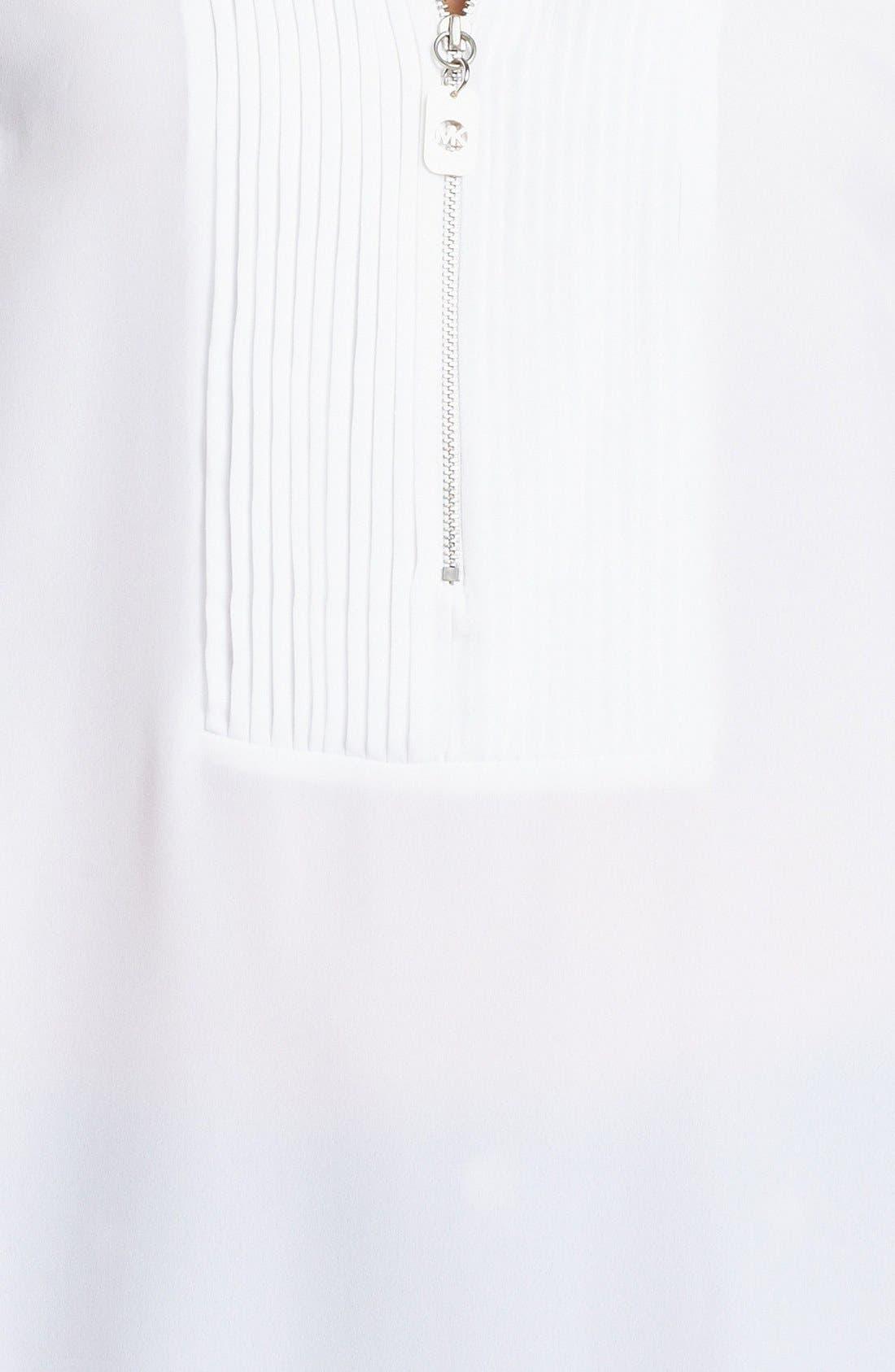 Alternate Image 3  - MICHAEL Michael Kors Tuxedo Pleated Shirt