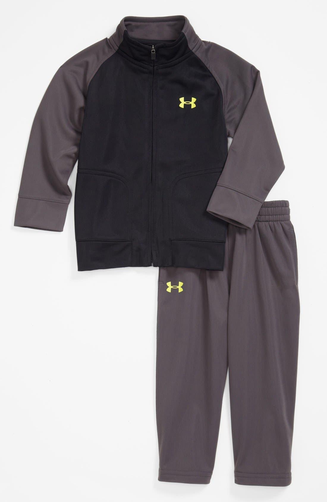 Alternate Image 1 Selected - Under Armour 'Sideline' Track Jacket & Pants (Baby Boys)