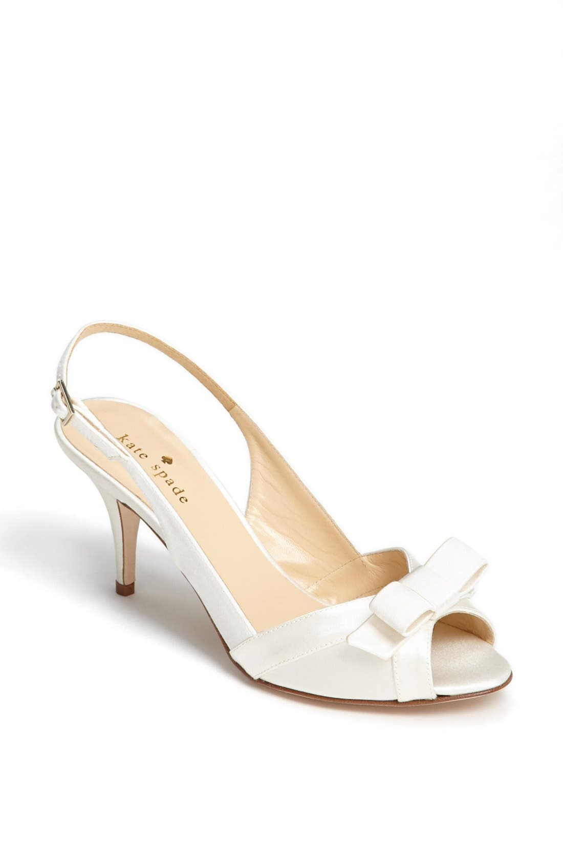Alternate Image 1 Selected - kate spade new york 'silver' slingback sandal