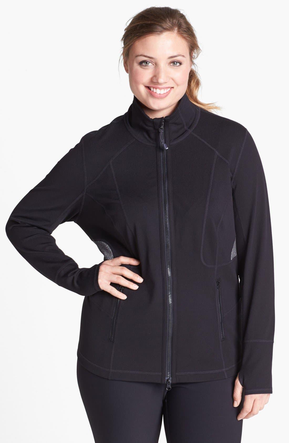 Alternate Image 2  - Zella 'Luxe Mix' Jacket (Plus Size)