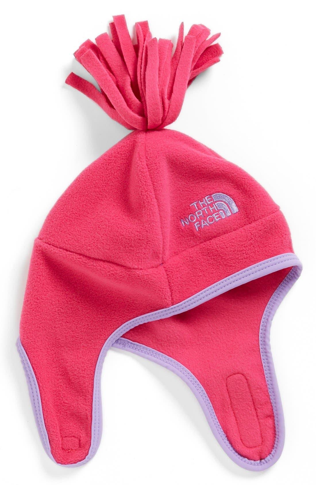 Alternate Image 1 Selected - The North Face 'Noggin' Polartec® Fleece Hat (Baby Girls)