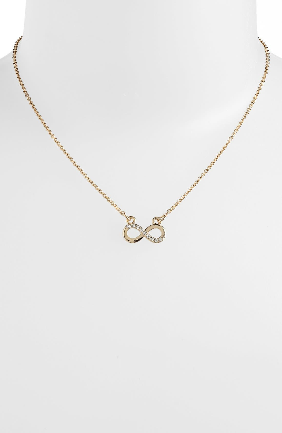 Alternate Image 1 Selected - Stephan & Co. Infinity Pendant Necklace (Juniors) (Online Only)