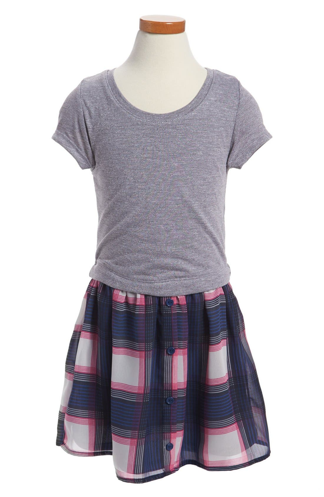 Main Image - W Girl T-Shirt Dress (Little Girls & Big Girls)