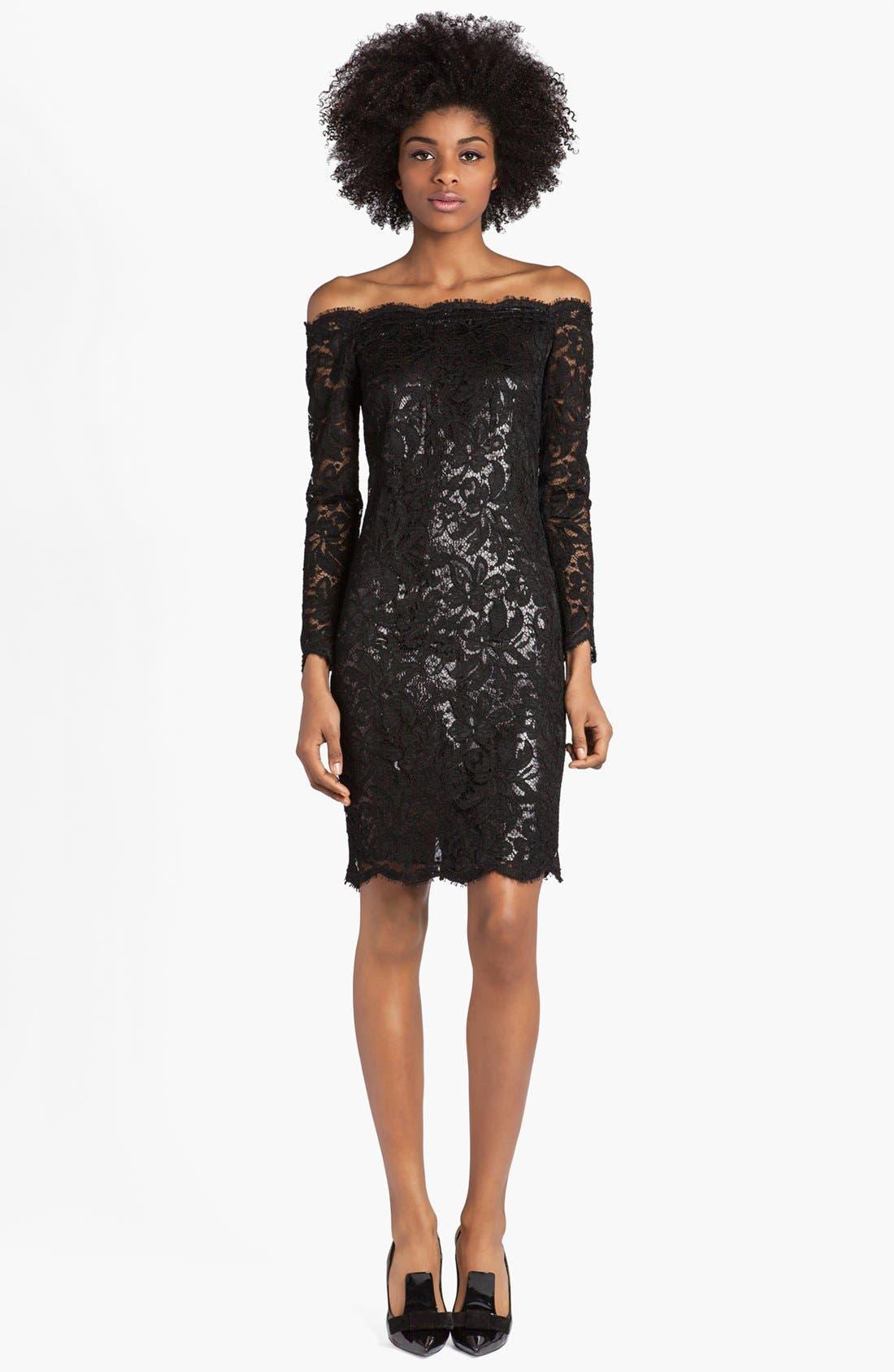 Alternate Image 1 Selected - Emilio Pucci Lace & Lamé Off Shoulder Dress