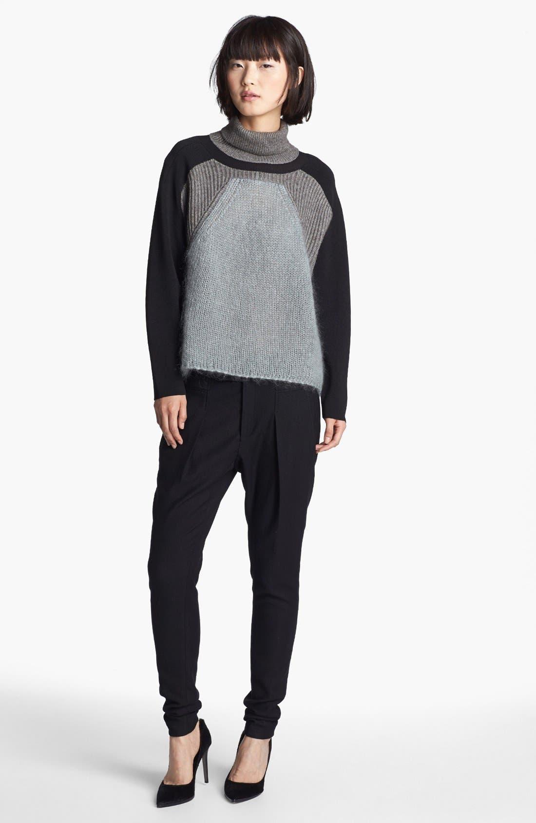 Alternate Image 2  - Helmut Lang Colorblock Turtleneck Sweater