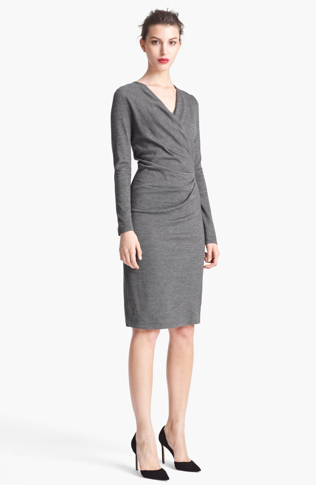 Main Image - Max Mara Side Draped Jersey Dress
