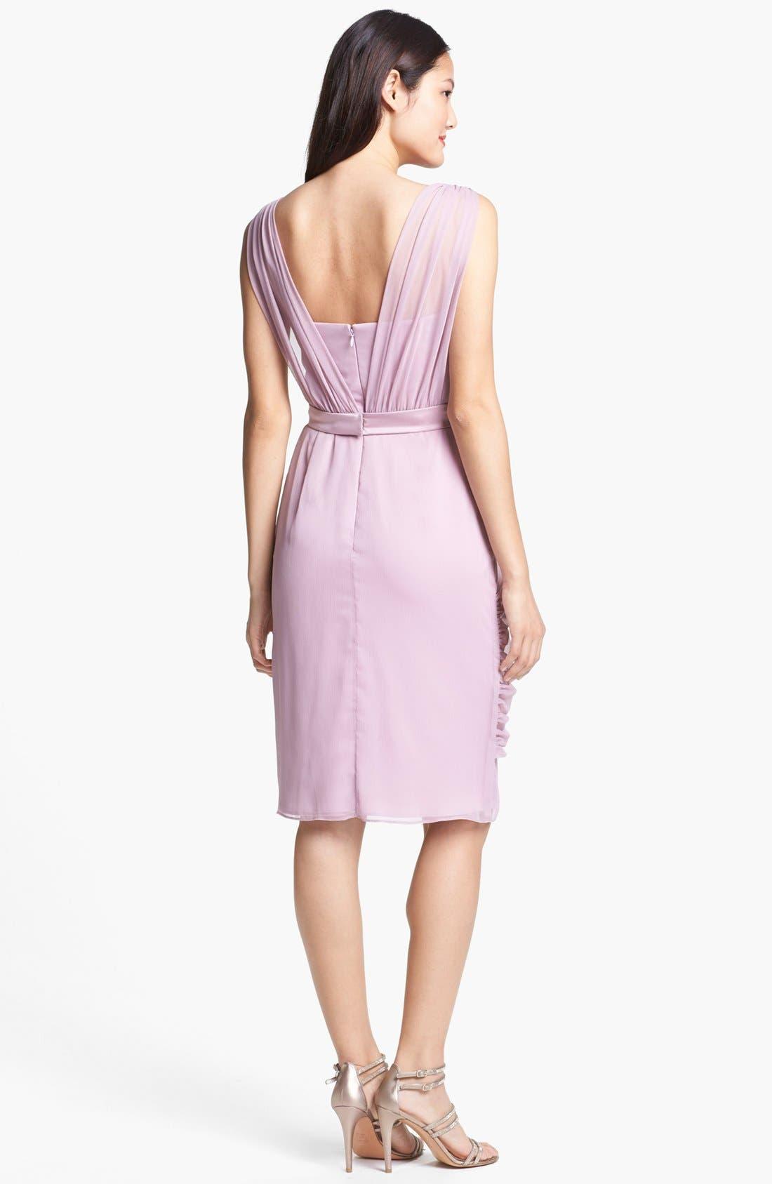 Alternate Image 2  - Lela Rose Bridesmaid Draped Chiffon Dress