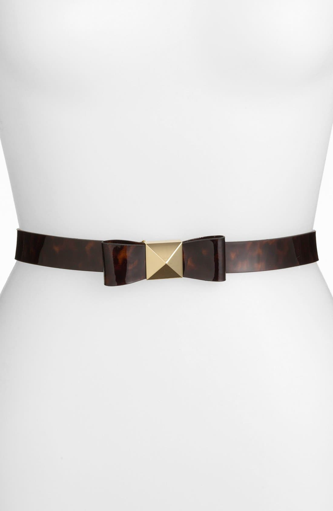 Alternate Image 1 Selected - kate spade new york 'pyramid bow' leather belt
