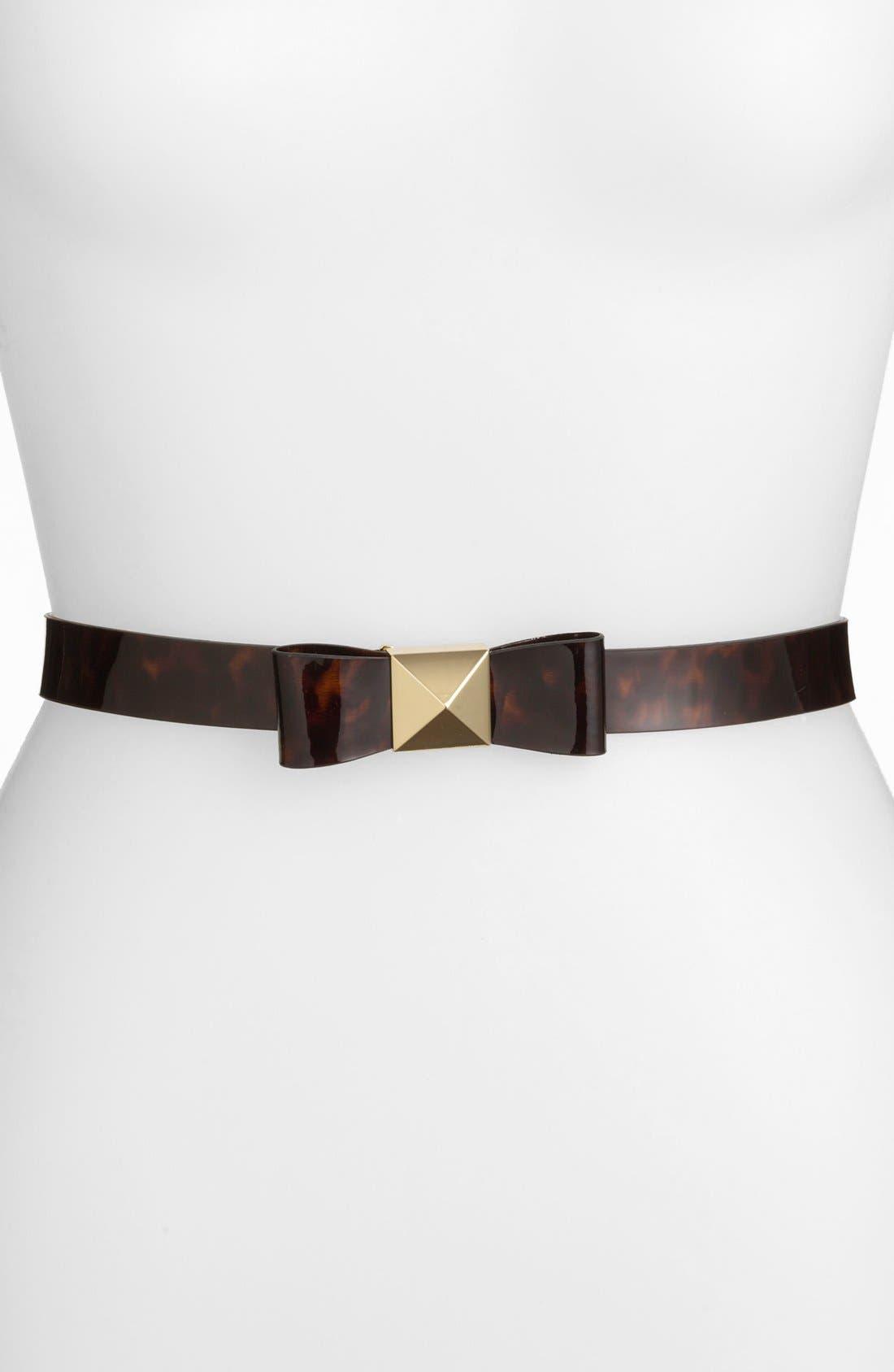 Main Image - kate spade new york 'pyramid bow' leather belt