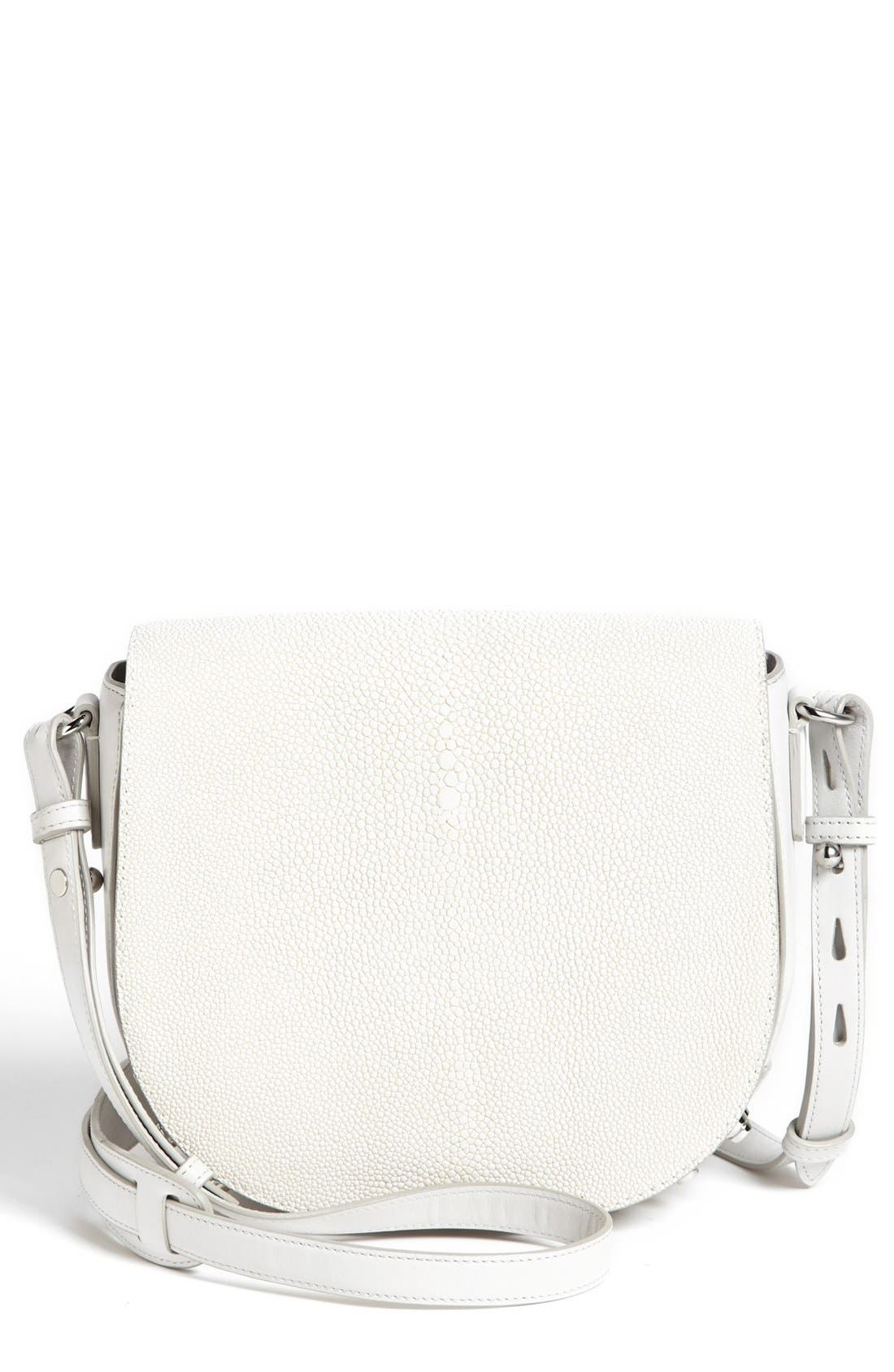 Alternate Image 1 Selected - Alexander Wang 'Lia Stingray - Small' Leather Crossbody Bag
