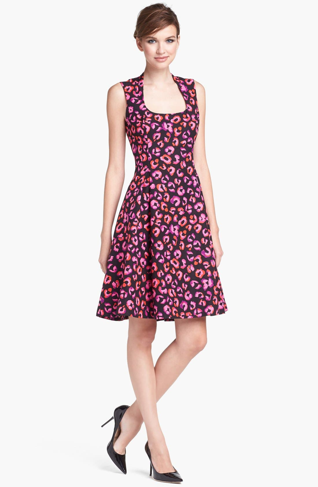 Main Image - kate spade new york 'kimi' cotton & silk a-line dress