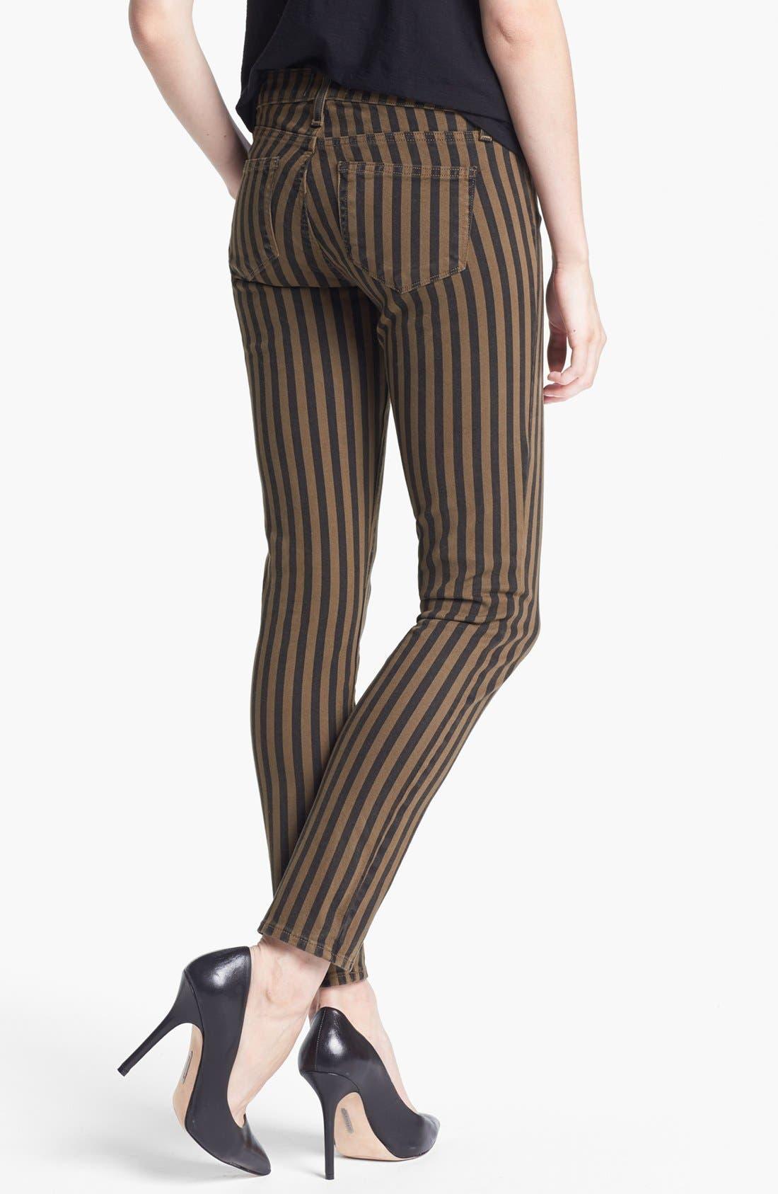 Alternate Image 2  - Paige Denim 'Skyline' Ankle Jeans (Olive Branch London Stripe)
