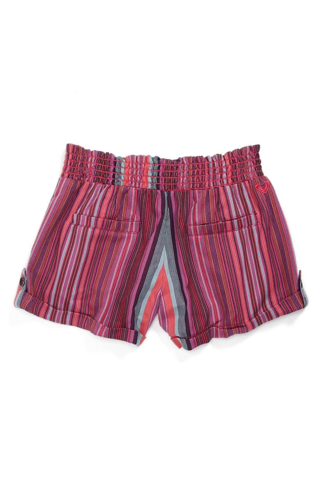 Alternate Image 2  - Roxy 'Beach Comber' Yarn Dye Shorts (Big Girls)