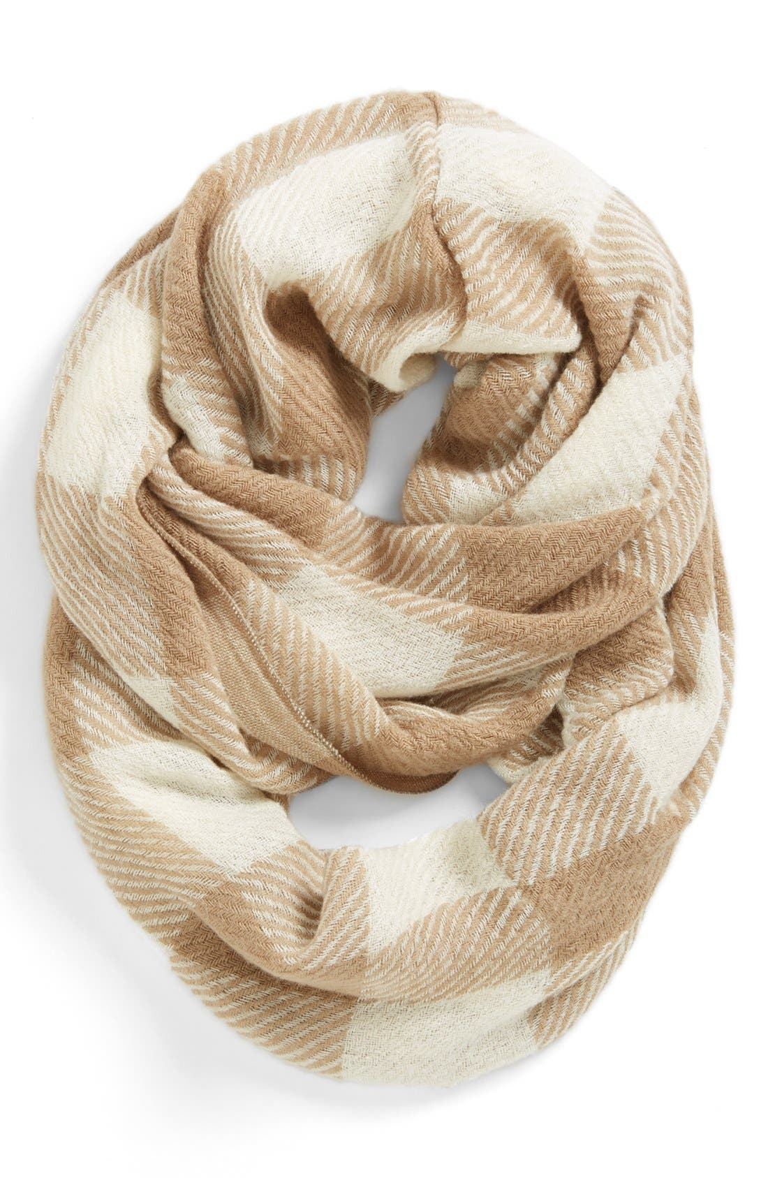Alternate Image 1 Selected - Tildon Plaid Infinity Scarf