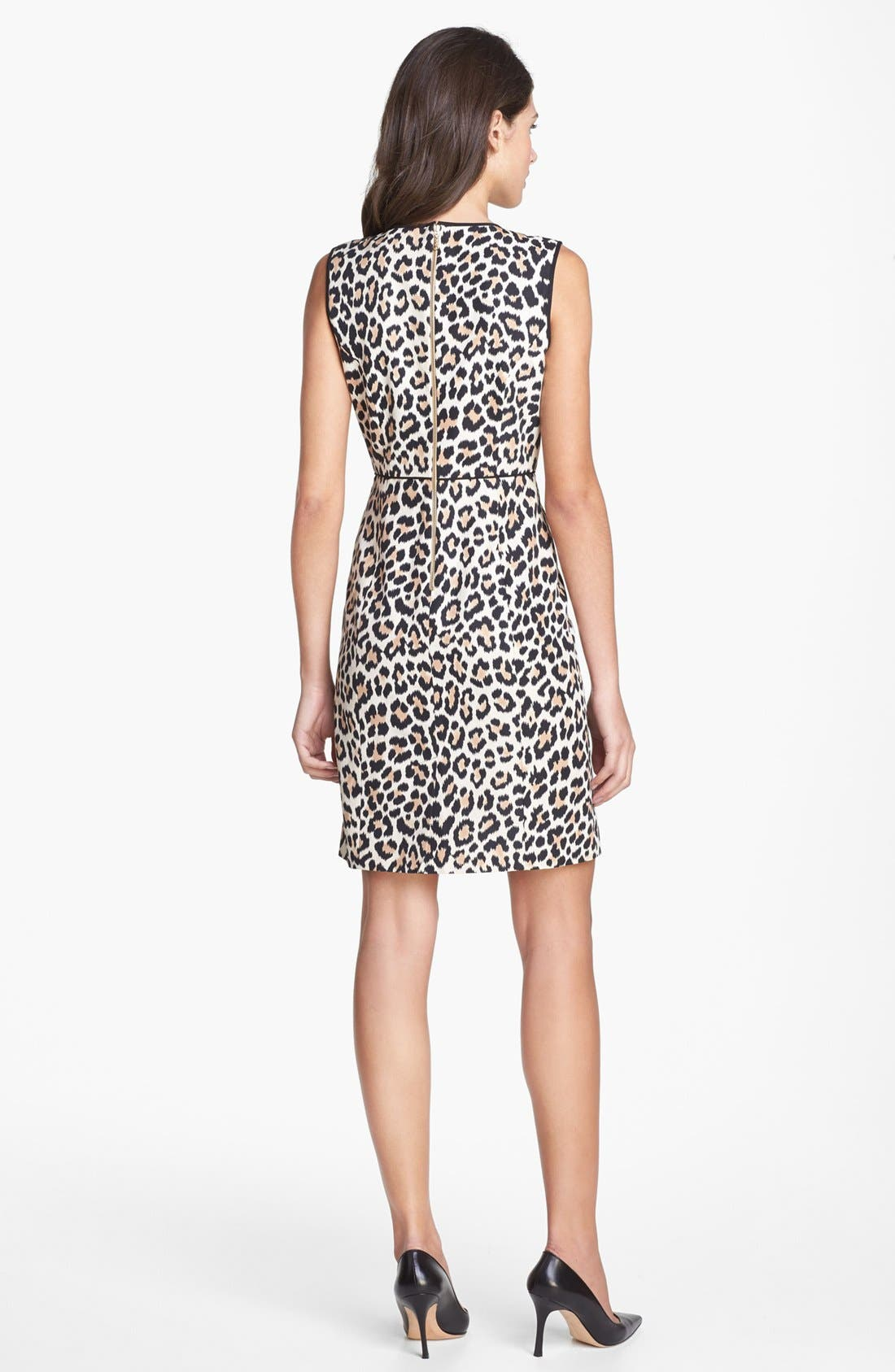 Alternate Image 2  - kate spade new york 'paulina' cotton & silk a-line dress
