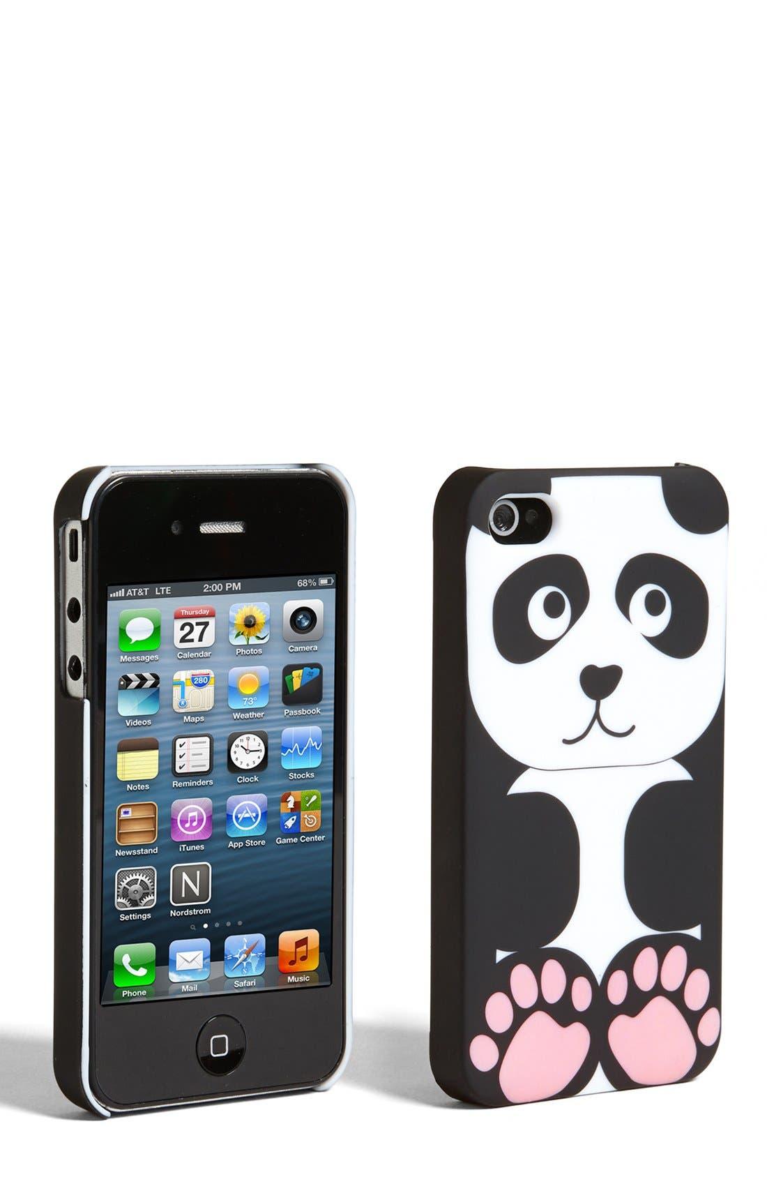 Alternate Image 1 Selected - Tri-Coastal Design Panda iPhone 4 & 4S Case (Juniors)