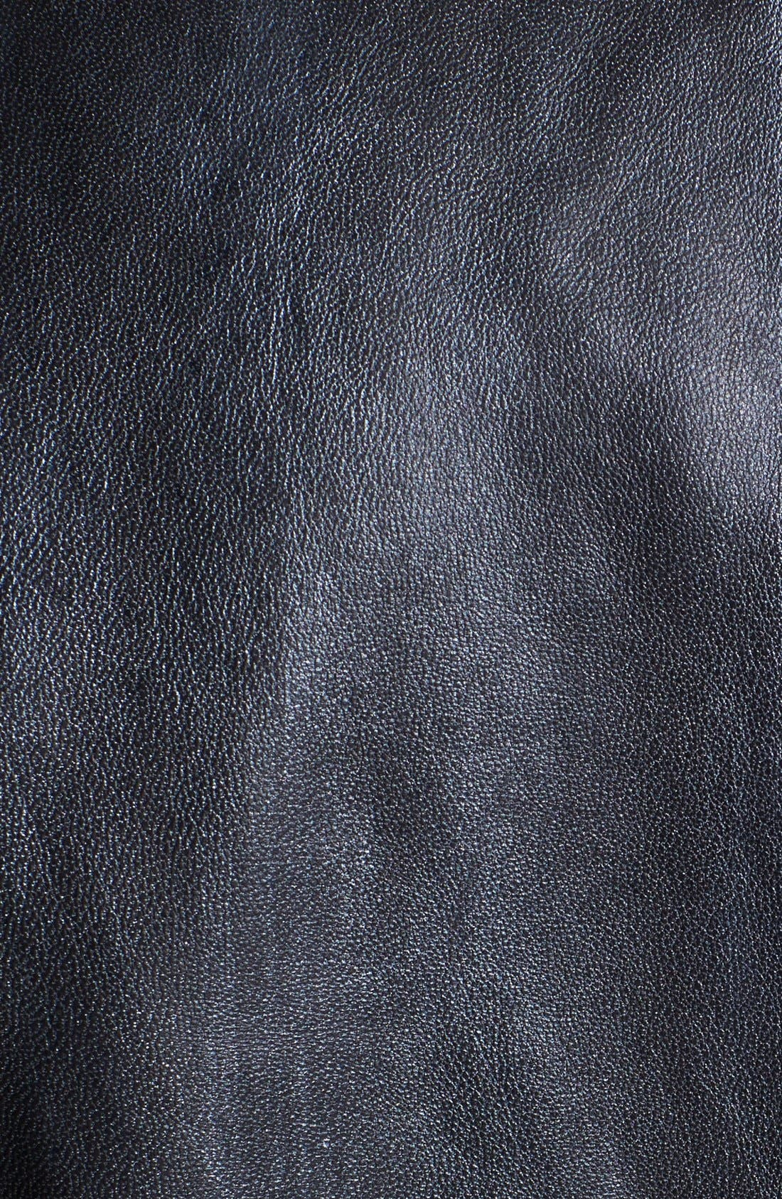 Alternate Image 3  - Kenneth Cole Collection Metallic Leather Moto Jacket