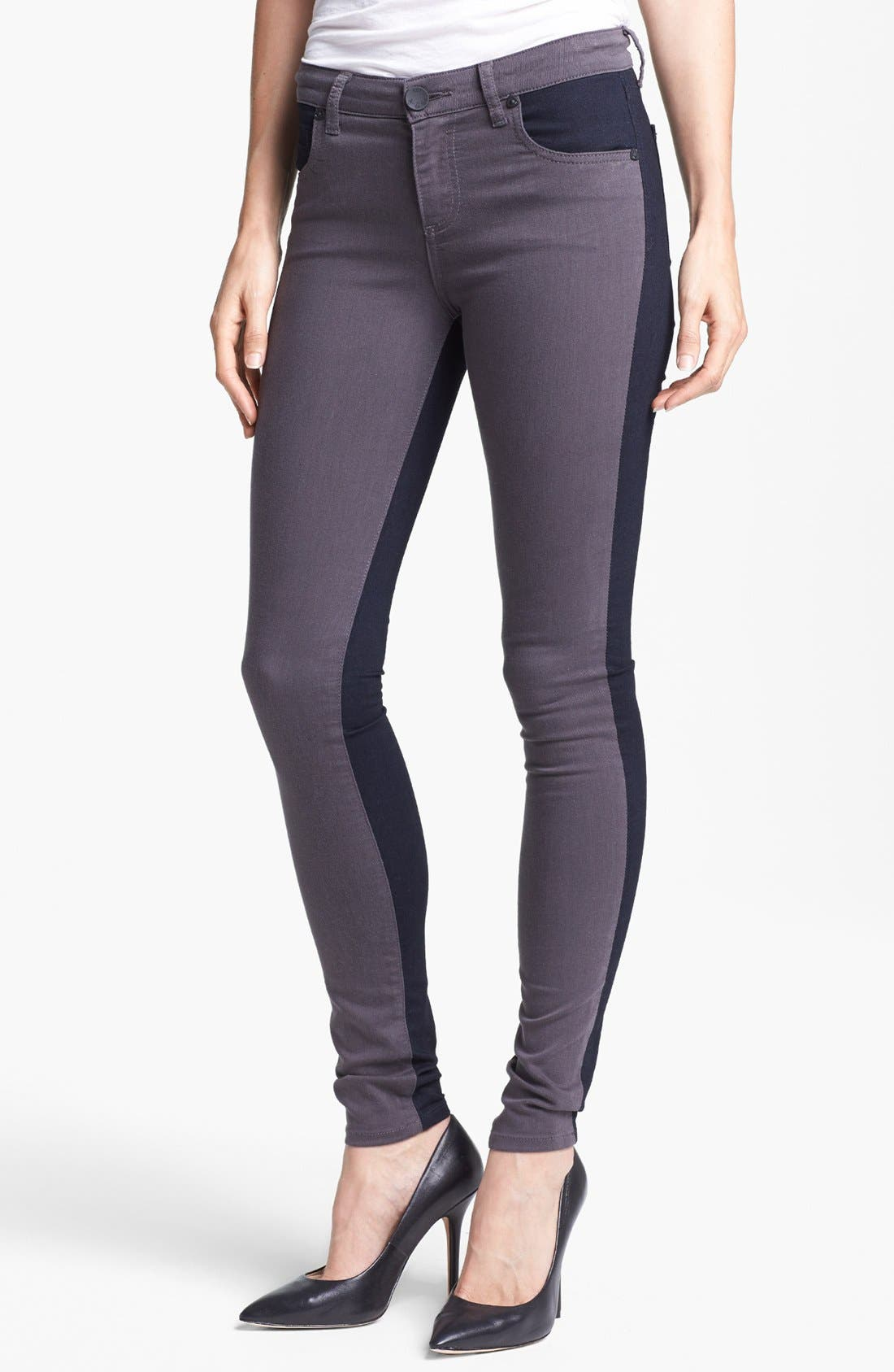 Alternate Image 1 Selected - KUT from the Kloth Colorblock Skinny Jeans