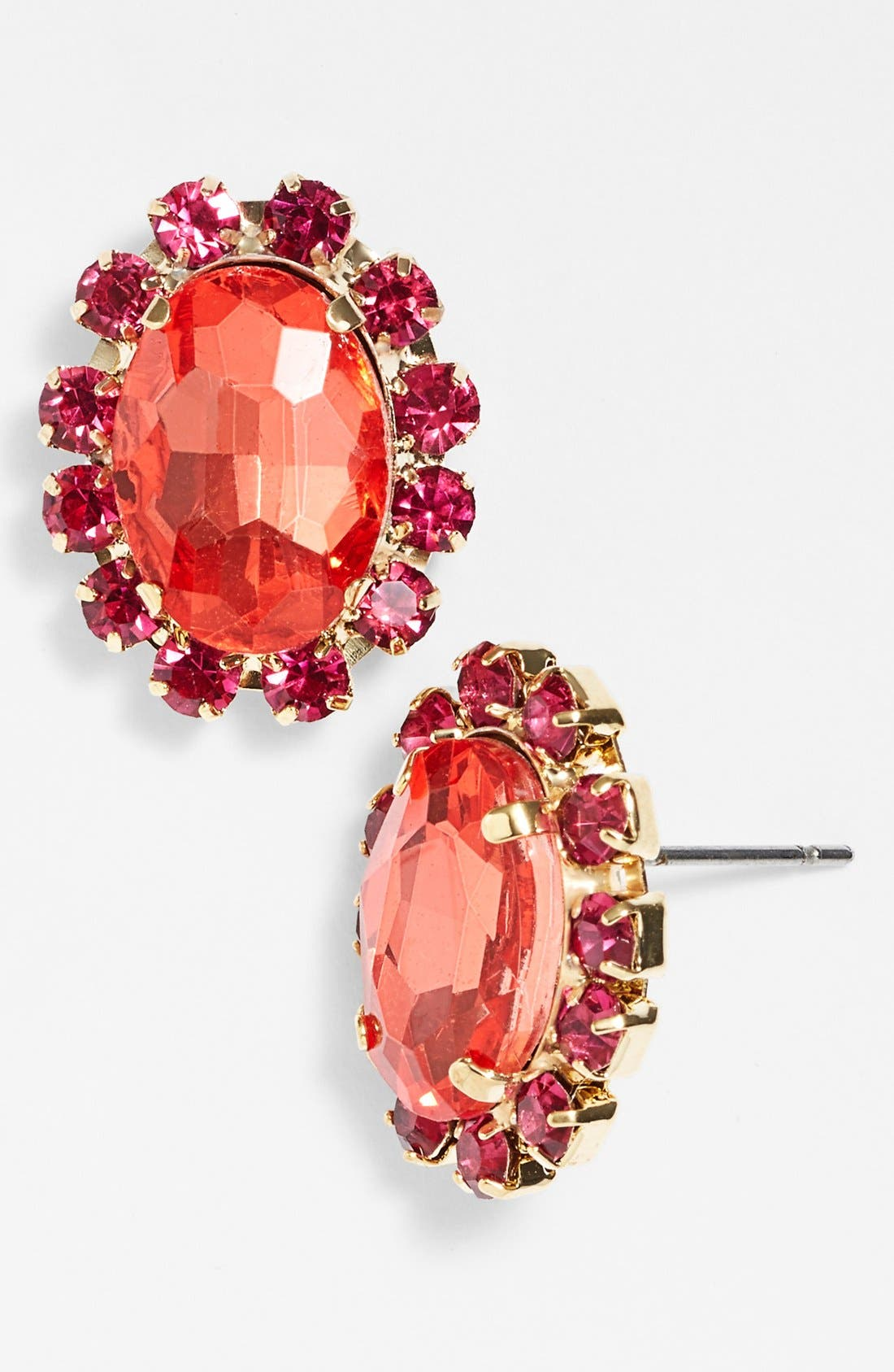 Alternate Image 1 Selected - Nordstrom 'Lady Lux' Oval Stone Stud Earrings