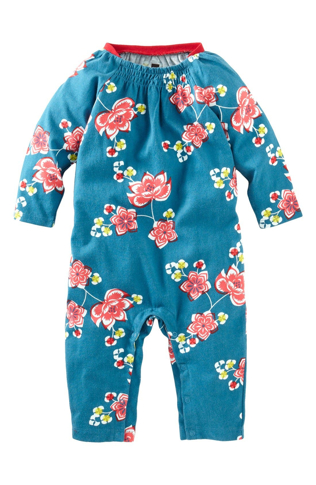 Alternate Image 1 Selected - Tea Collection 'Jianzhi' Romper (Baby Girls)