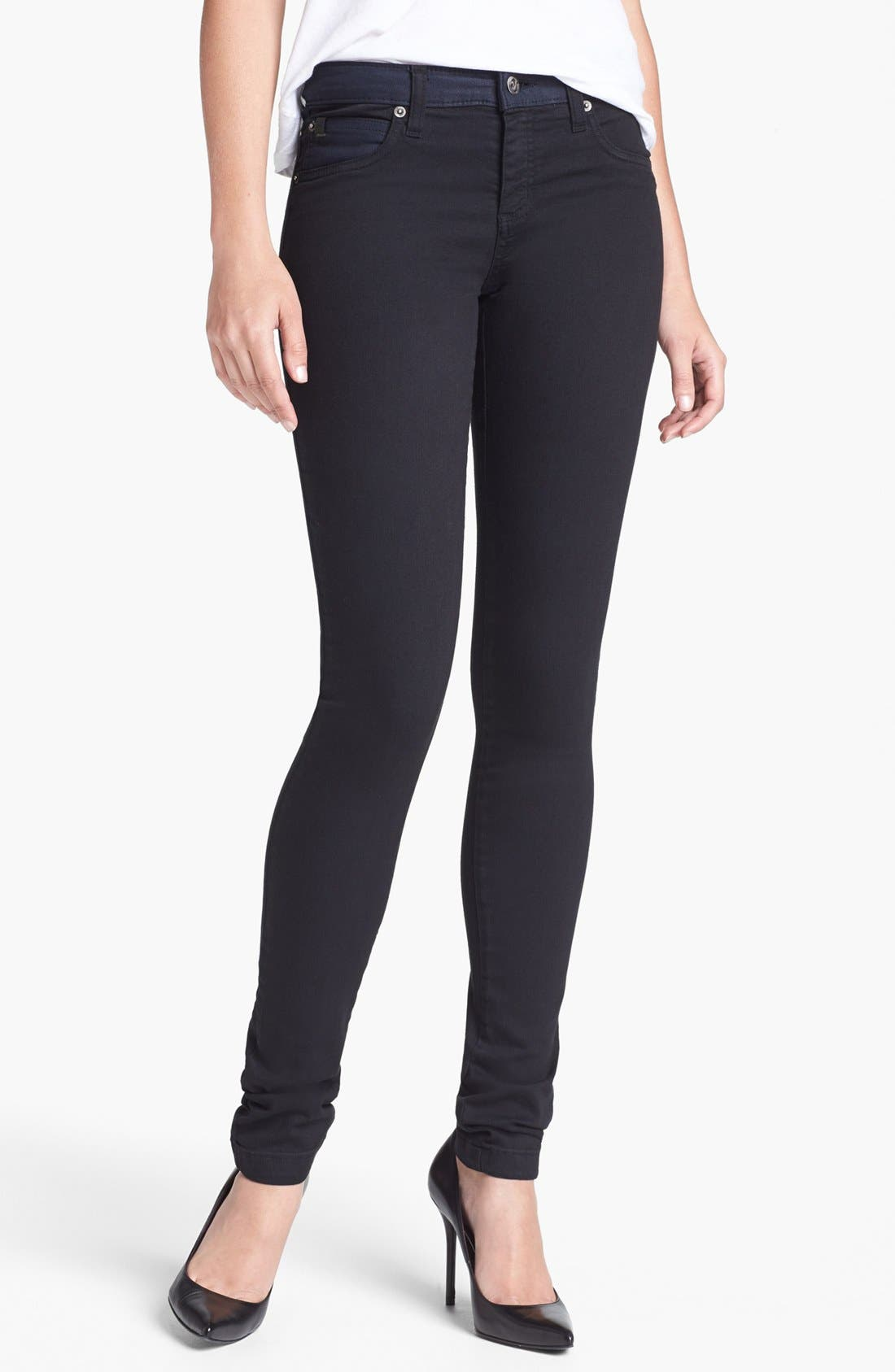 Main Image - Yoga Jeans by Second Denim High Rise Colorblock Skinny Jeans