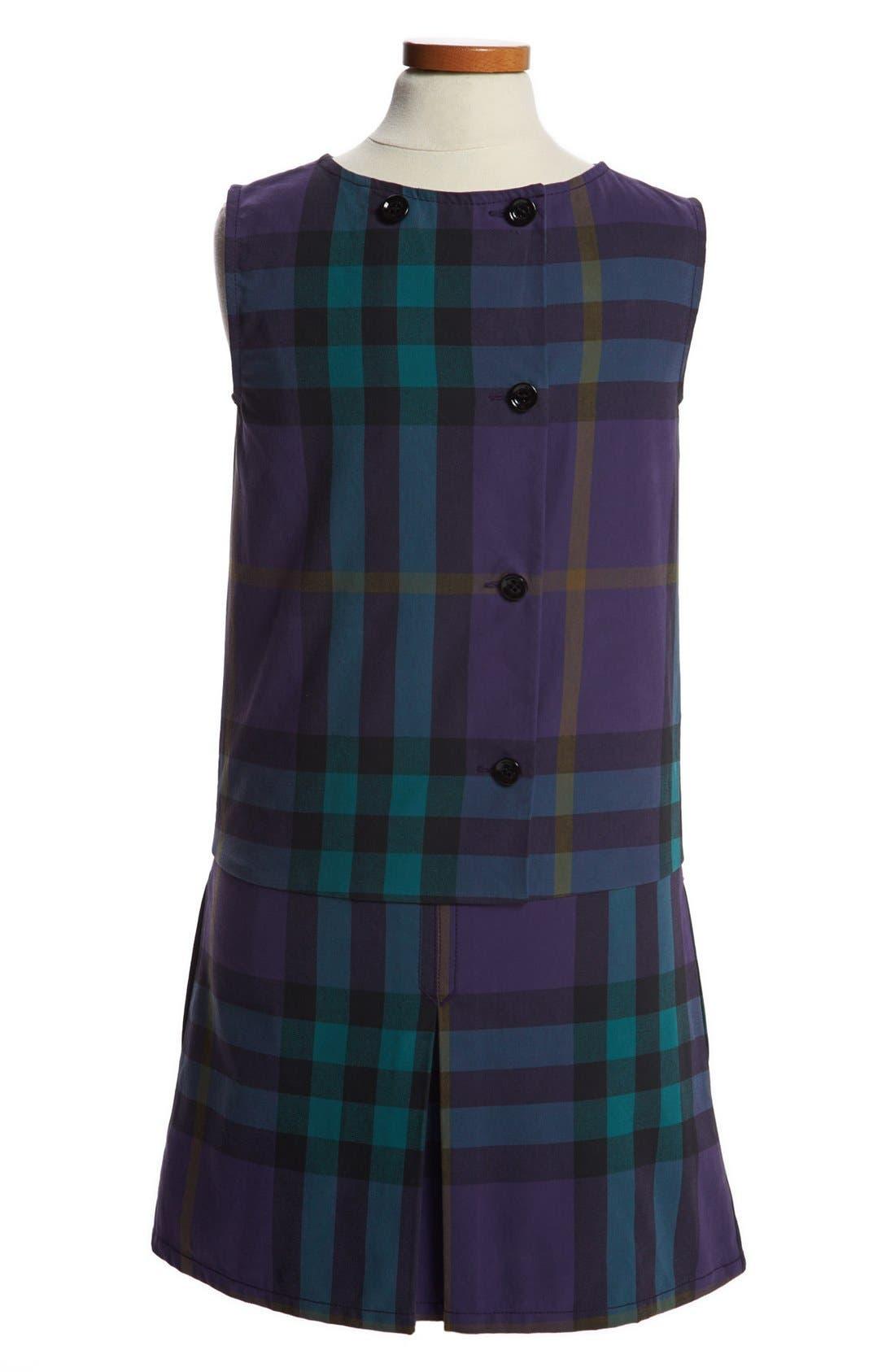 Alternate Image 2  - Burberry 'Dawny' Sleeveless Dress (Little Girls & Big Girls)