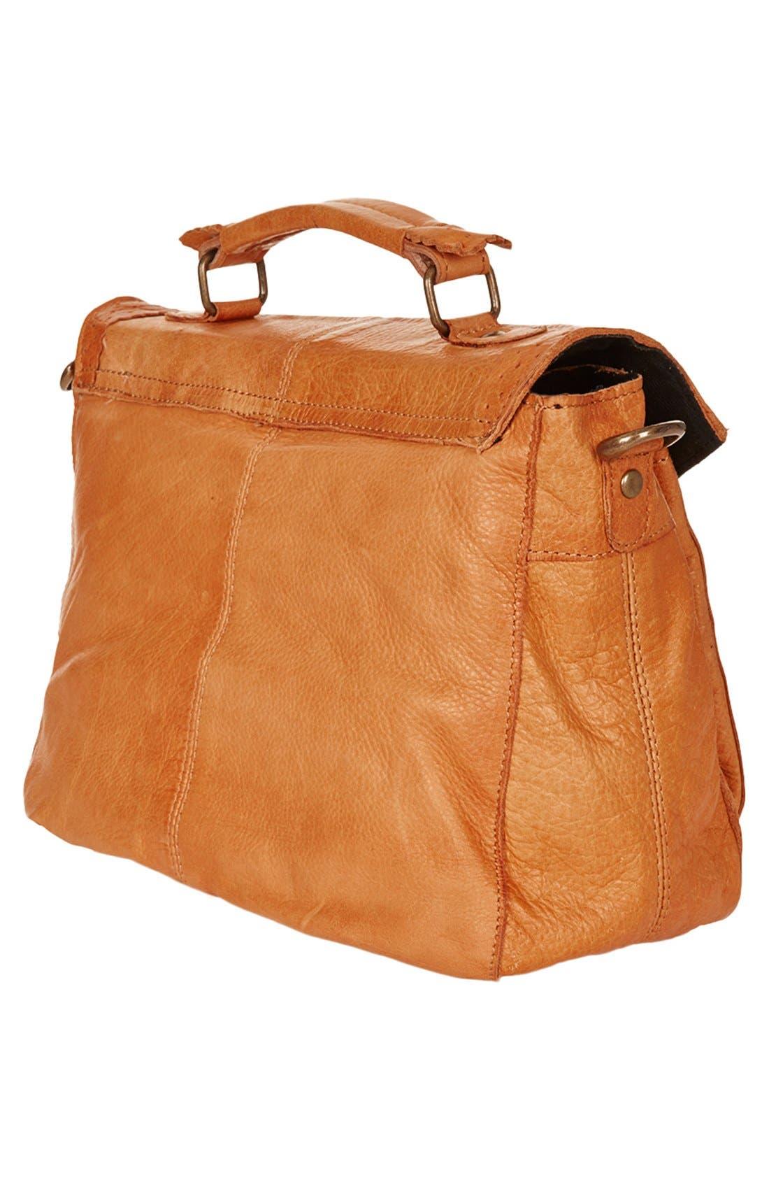 Alternate Image 4  - Topshop 'Brogue' Leather Satchel