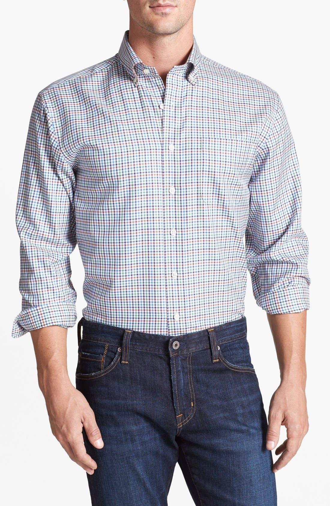 Alternate Image 1 Selected - Vineyard Vines 'Murray Sedgwick' Regular Fit Check Sport Shirt