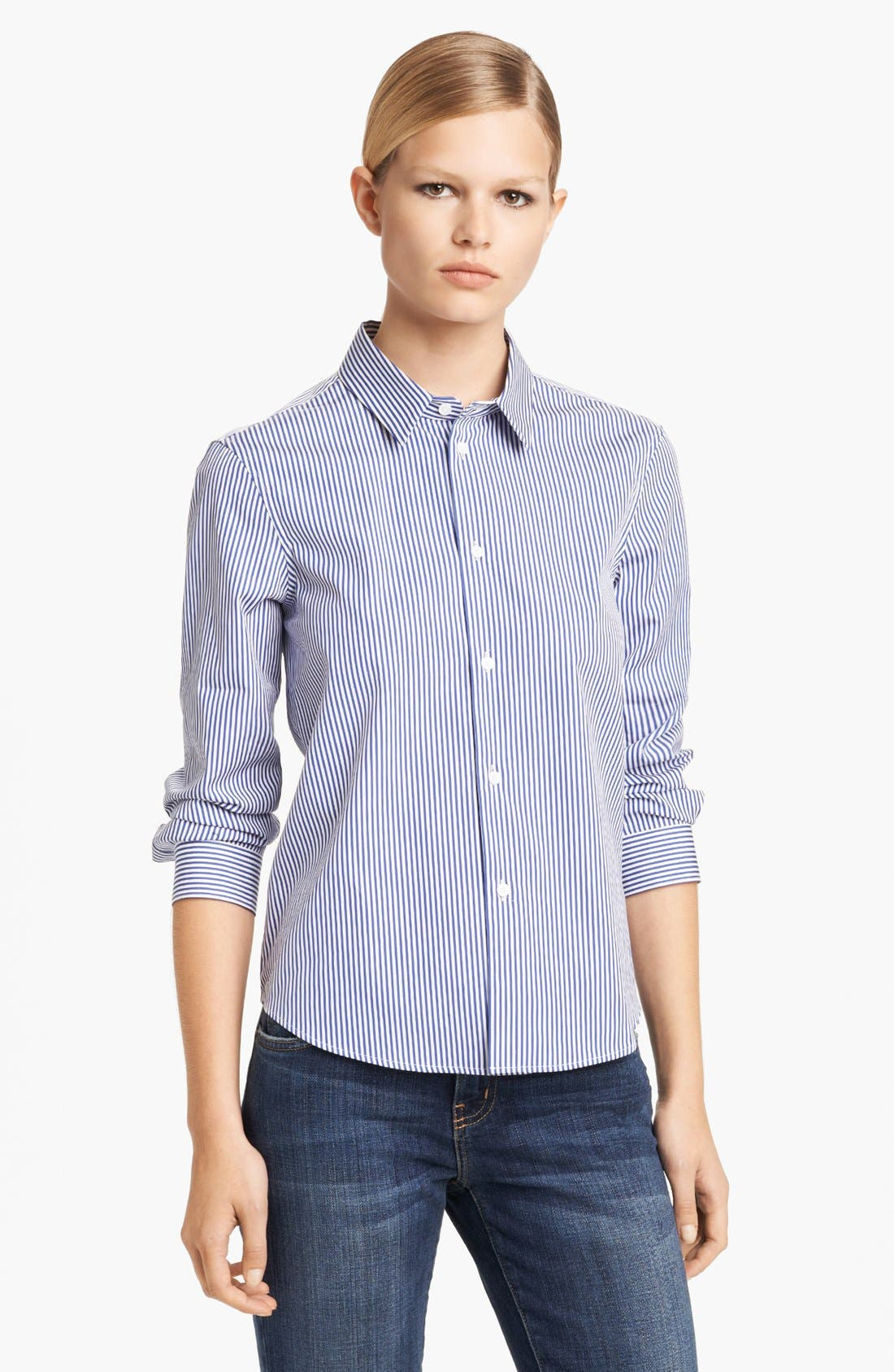 Alternate Image 1 Selected - Jil Sander Pinstripe Poplin Shirt