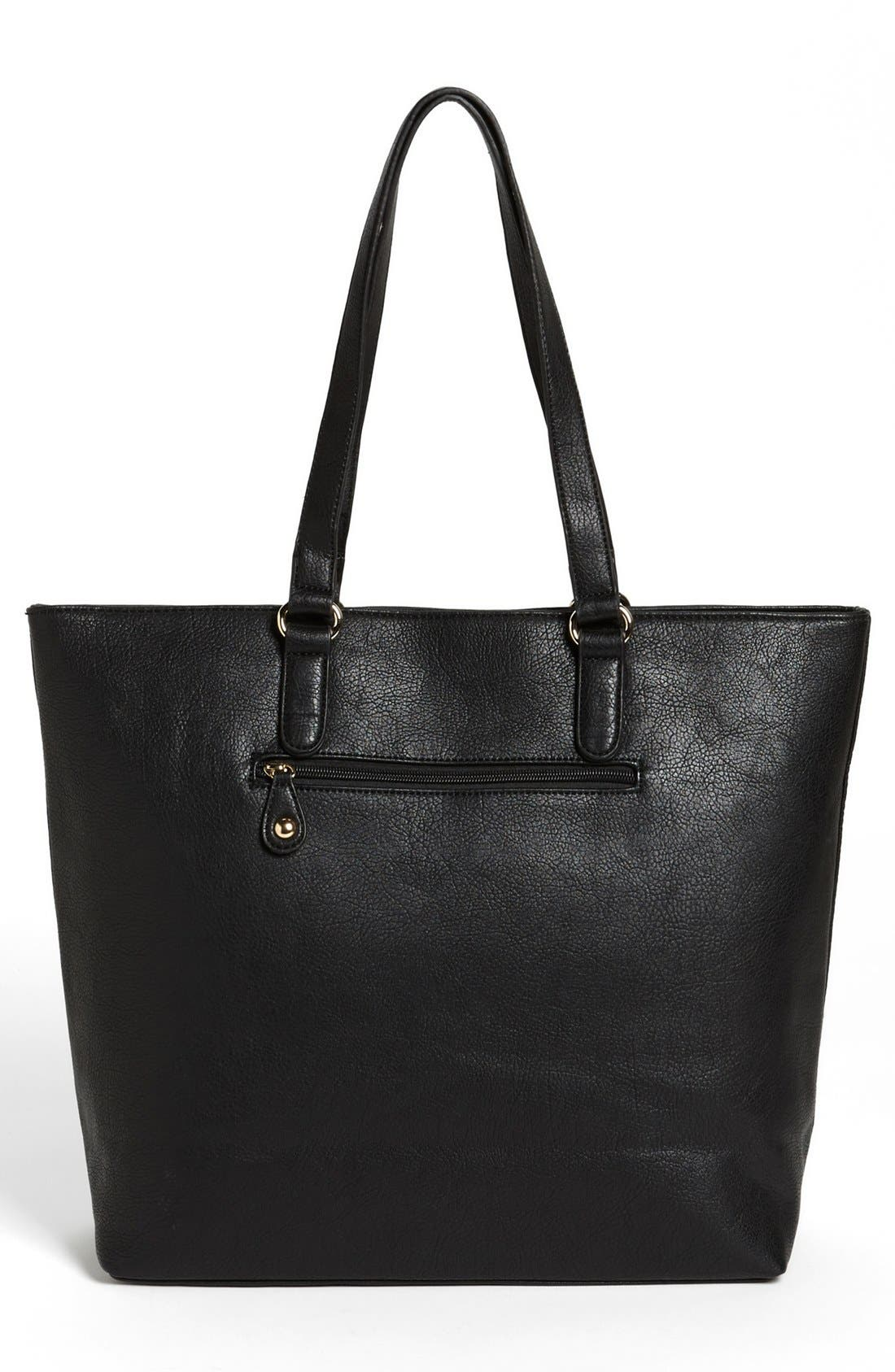 Alternate Image 4  - Emperia Studded Trim Tote (Juniors) (Online Only)