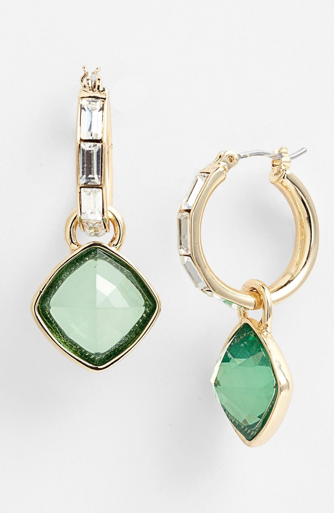 Alternate Image 1 Selected - Anne Klein Cushion Cut Stone Drop Earrings