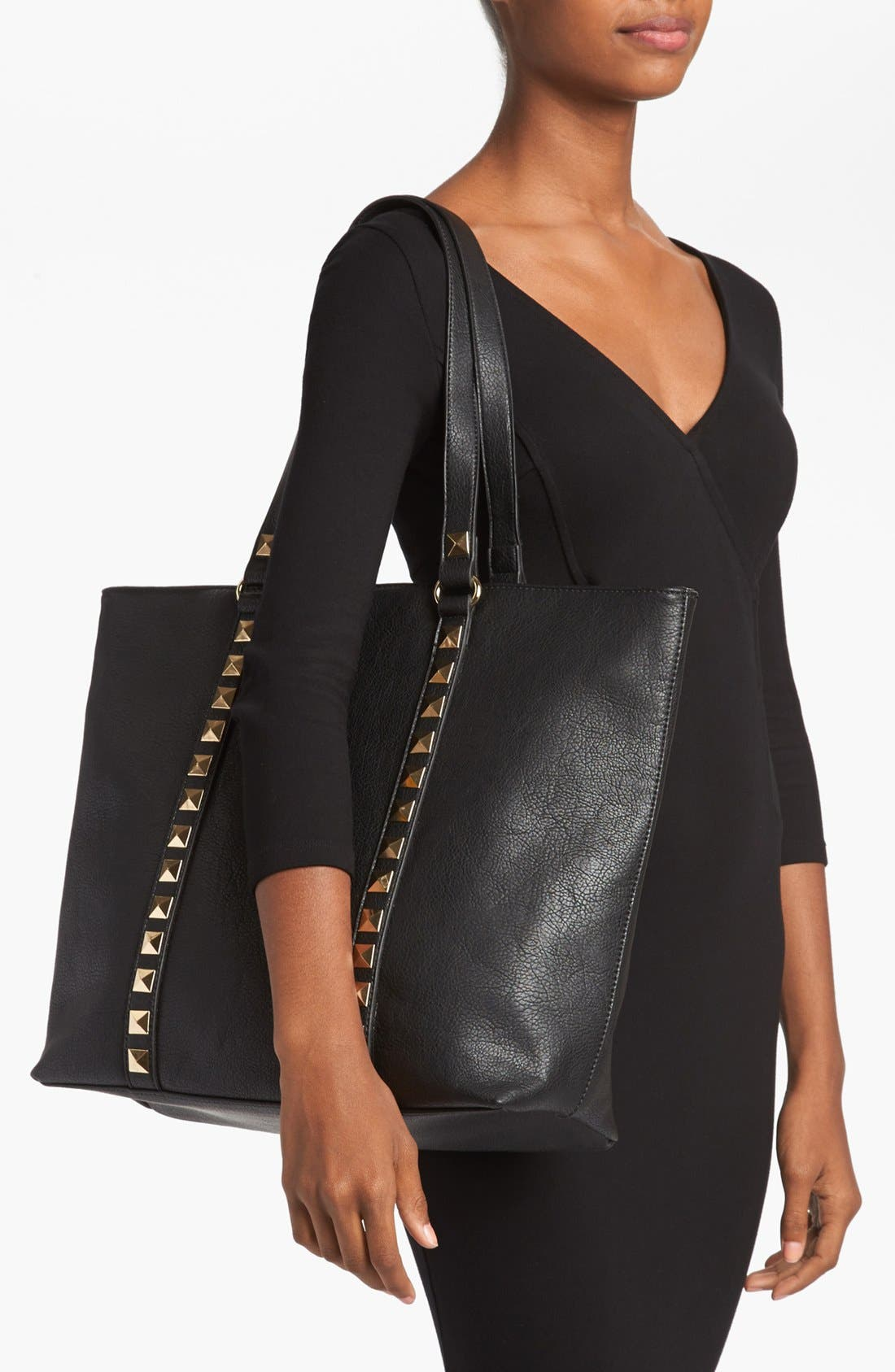 Alternate Image 2  - Emperia Studded Trim Tote (Juniors) (Online Only)