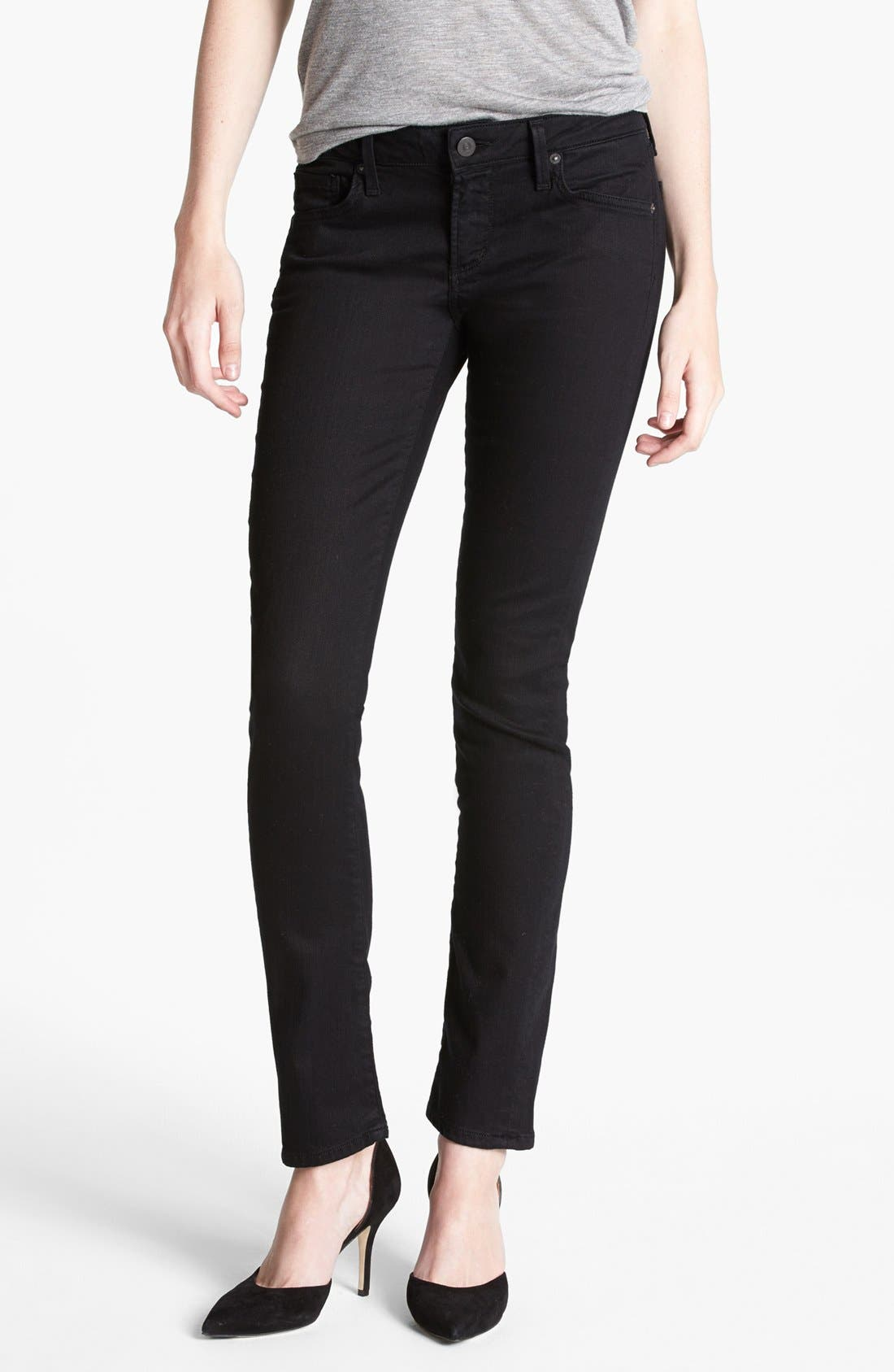 Alternate Image 1 Selected - Citizens of Humanity 'Racer' Low Rise Skinny Jeans (Black Diamond)