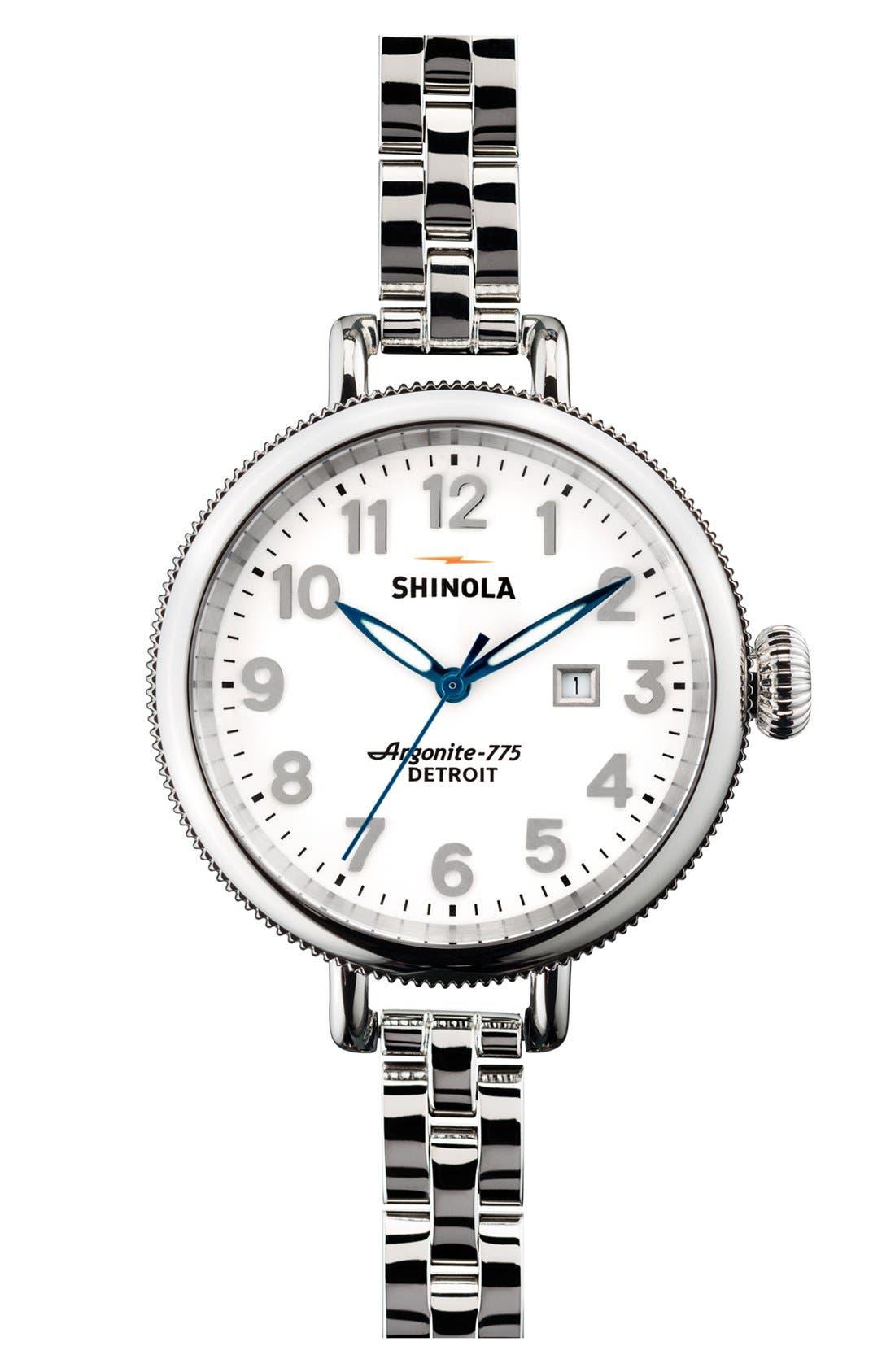 Alternate Image 1 Selected - Shinola 'The Birdy' Bracelet Watch, 34mm