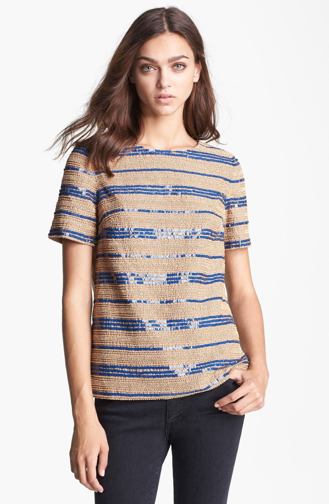 Main Image - Tory Burch 'Theresa' Embellished Top