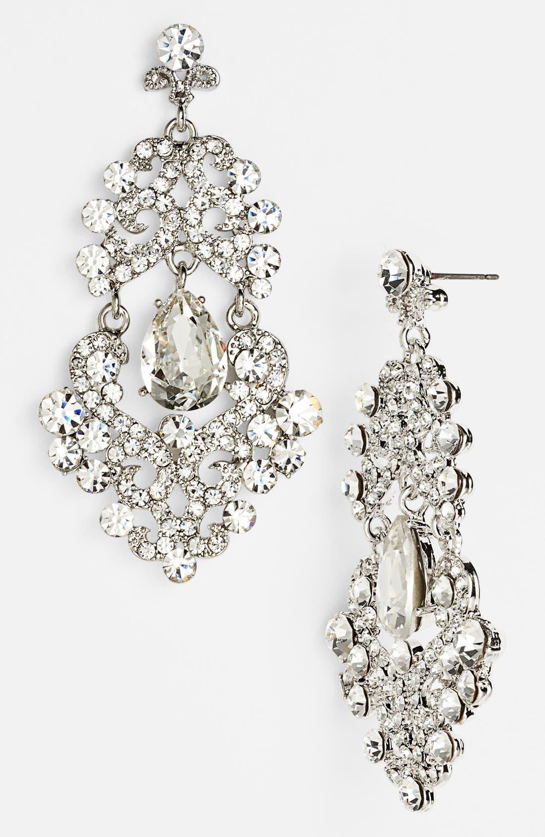 Alternate Image 1 Selected - Tasha Ornate Chandelier Earrings