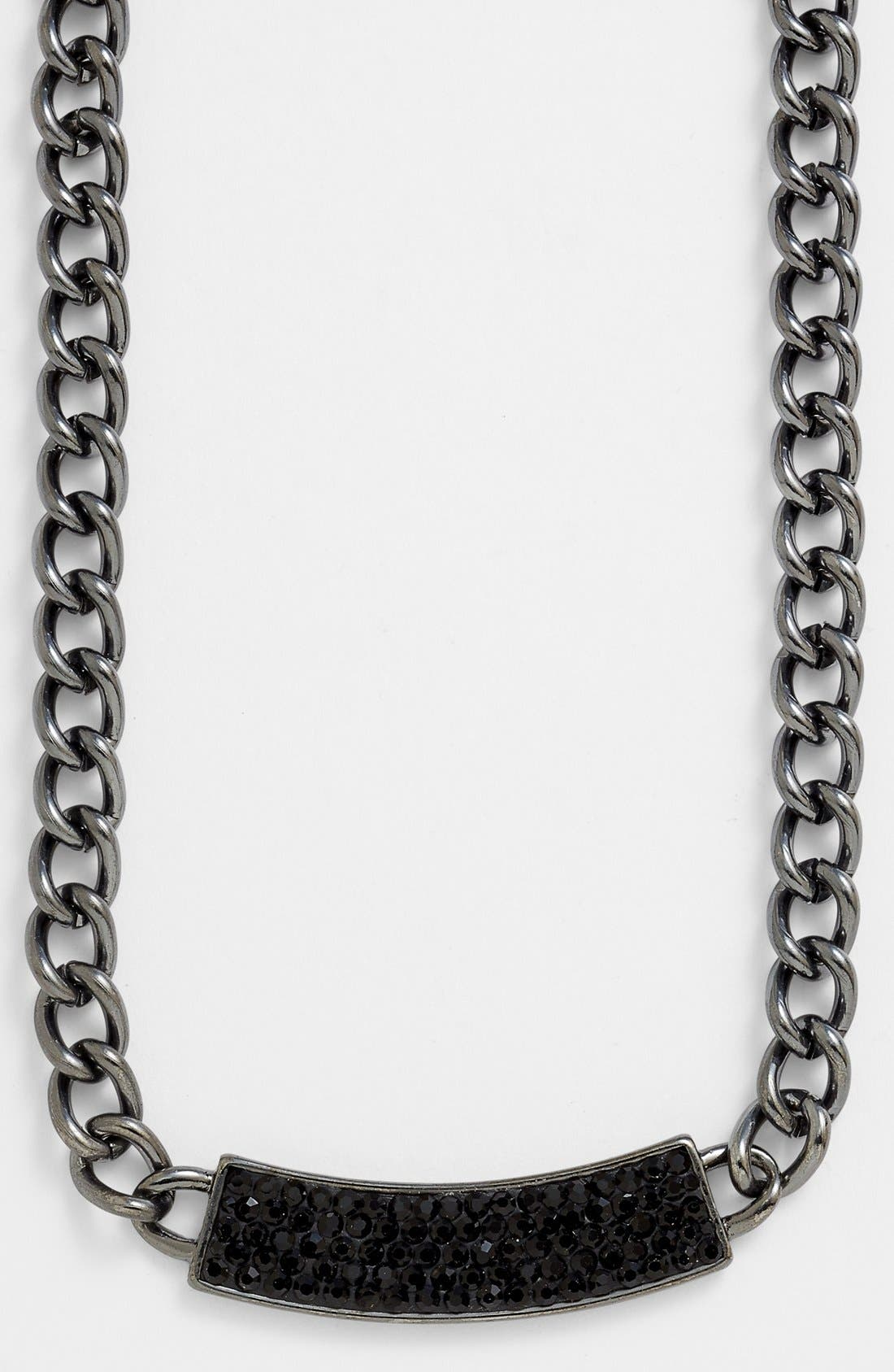 Alternate Image 2  - Nordstrom 'All that Glitters' Pavé ID Plate Chain Necklace