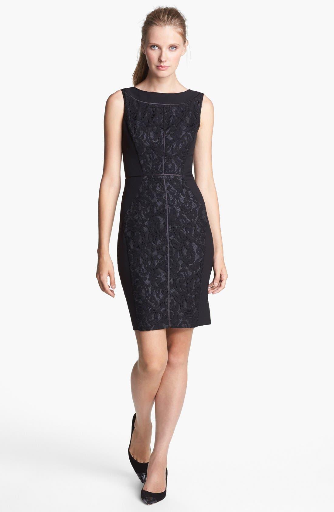 Alternate Image 1 Selected - Ellen Tracy Lace Sheath Dress